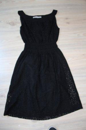 Zara Cocktailkleid Spitze schwarz Basic XS