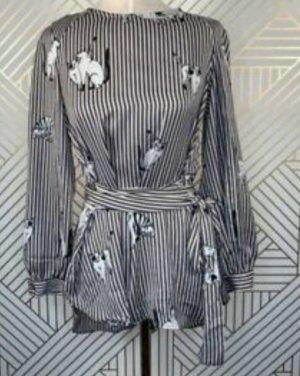Zara Premium Kimono blouse wolwit-donkerbruin