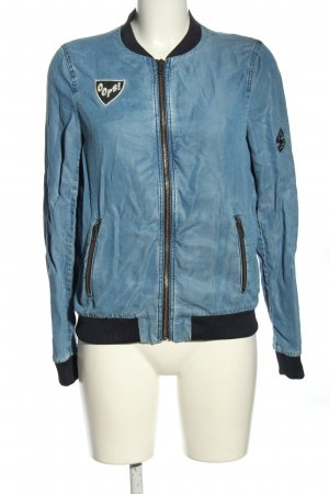 Zara Collegejacke blau Casual-Look