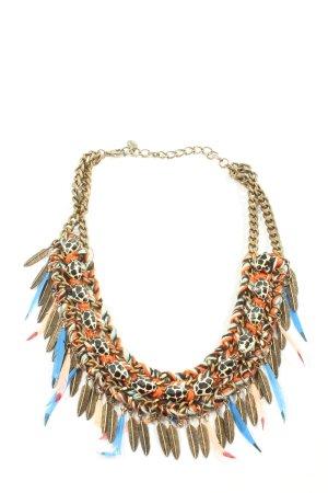Zara Collier goldfarben-hellorange Elegant