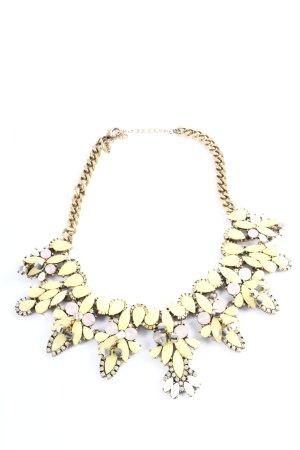Zara Colliers ras du cou doré-jaune primevère style classique