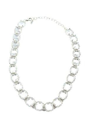 Zara Collier weiß-silberfarben Elegant