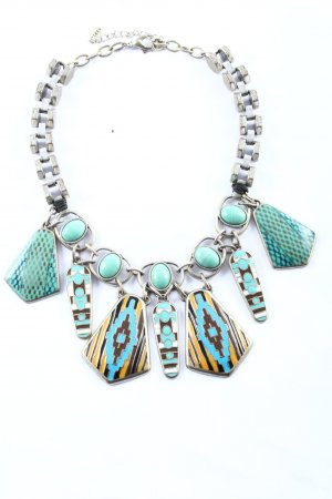 Zara Collier Necklace silver-colored-turquoise elegant