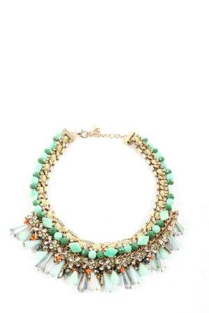 Zara Collier goldfarben-grün Elegant