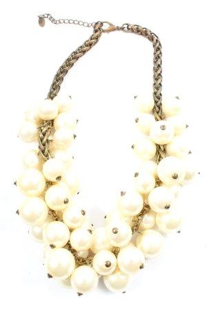 Zara Colliers ras du cou blanc cassé-gris clair élégant