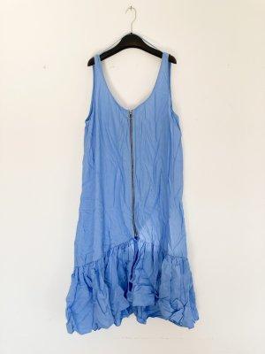 Zara cooles Trägerkleid mit Volant Saum Blau XL 40 42 Instagram Dress