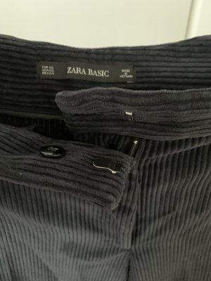 Zara Corduroy broek zwart