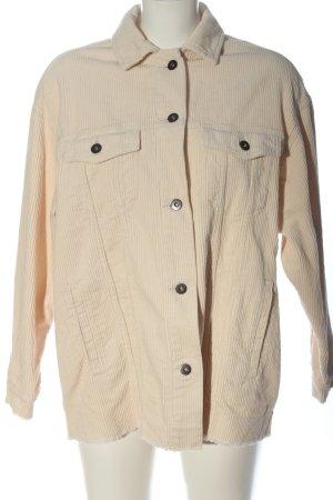 Zara Sztruksowa kurtka w kolorze białej wełny W stylu casual
