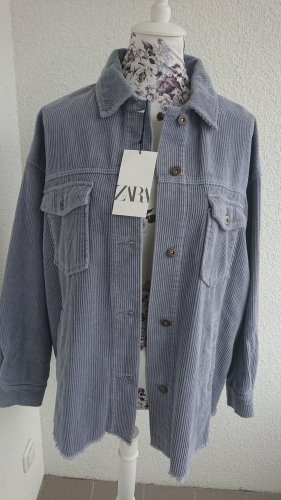 Zara Women Kurtka oversize szary niebieski