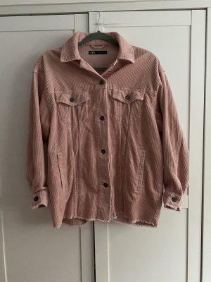 Zara Sztruksowa kurtka różowy-stary róż