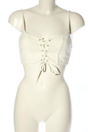 Zara Top gorsetowy w kolorze białej wełny Wzór w paski W stylu casual