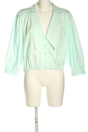Zara Blusa estilo Crash verde elegante