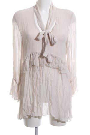 Zara Crash Blouse nude elegant