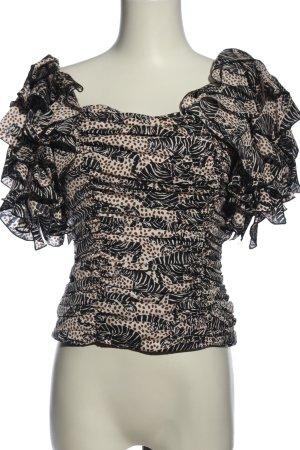 Zara Crash Blouse abstract pattern elegant