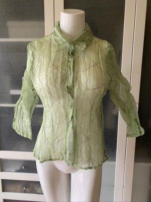 Zara Woman Crash Blouse lime-green