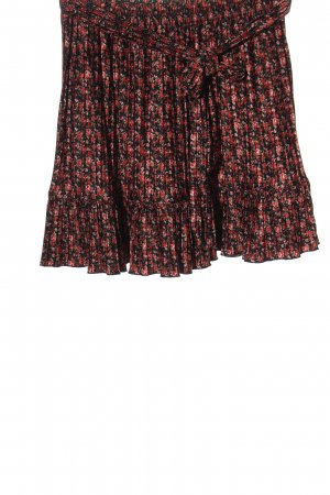 Zara Kreukelrok zwart-rood volledige print casual uitstraling