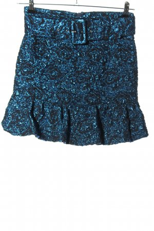 Zara Crashrock blau Allover-Druck Casual-Look