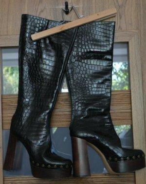 Zara croc 100% leder Stiefel boots platform