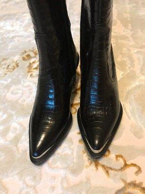 Zara Buty w stylu western czarny