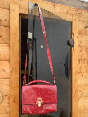 Zara Borsa a spalla rosso scuro-oro