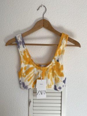 Zara Crop Batik Top M