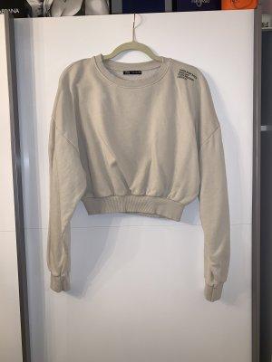 Zara crop pullover beige