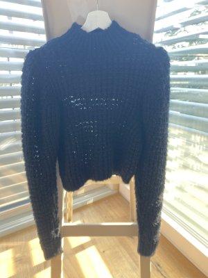 ZARA Crop Pullover schwarz Gr. S