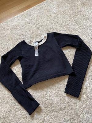 Zara T-shirt court noir-blanc