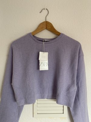 Zara Crop Sweater Flieder M neu