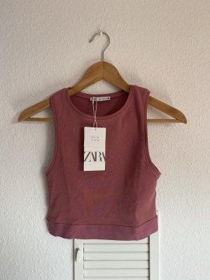 Zara crop top altrosa M neu