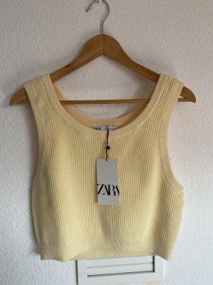 Zara crop Top hellgelb S neu Strick