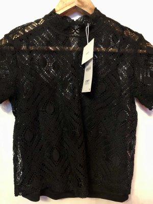 Zara Kanten blouse zwart
