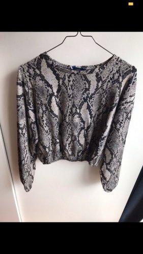 Zara Crop Top Pullover mit Schlangenprint