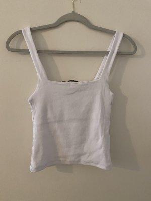 Zara Cropped shirt wit-wolwit