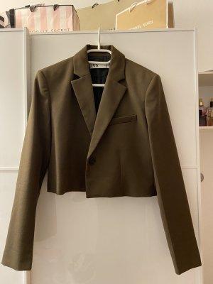 Zara Cropped Blazer khaki