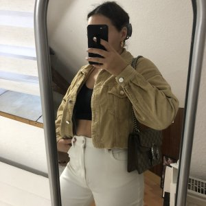 Zara Cropped Cord Jacke / kurze Stoffjacke