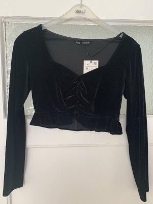 Zara Cropped top zwart