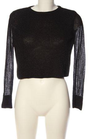 Zara Cropped Pullover schwarz Casual-Look