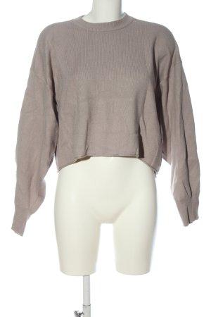 Zara Cropped Pullover wollweiß meliert Casual-Look