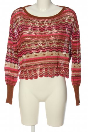 Zara Cropped Pullover Allover-Druck Casual-Look