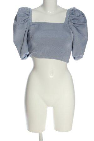 Zara Cropped Pullover blau Elegant