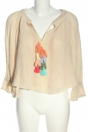 Zara Cropped Pullover creme Casual-Look