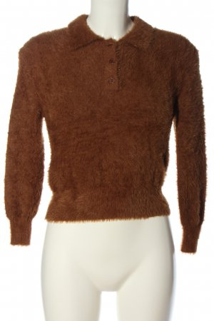 Zara Cropped Pullover braun Casual-Look