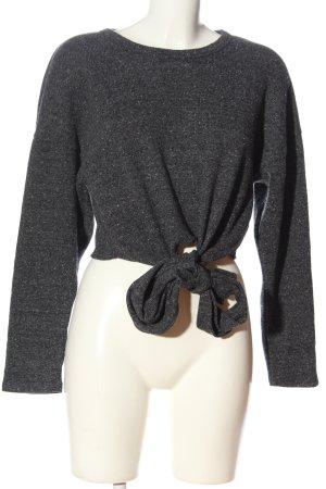 Zara Cropped Pullover hellgrau meliert Casual-Look