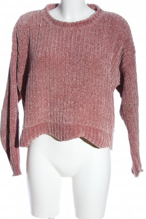 Zara Cropped Pullover pink Zopfmuster Elegant