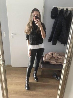 Zara Cropped Pullover Schwarz XS