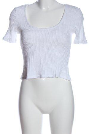 Zara Cropped shirt wit gestreept patroon casual uitstraling