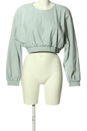 Zara Cropped Pullover hellgrau Casual-Look