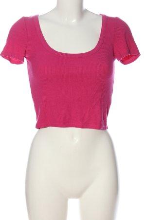 Zara Cropped Shirt pink Casual-Look