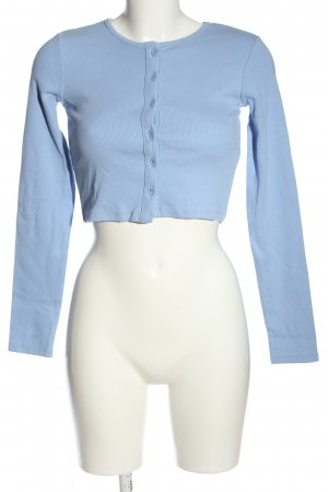 Zara Cropped Shirt blau Business-Look